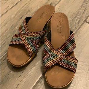 Skechers Cali wedge sandal. Multi color!